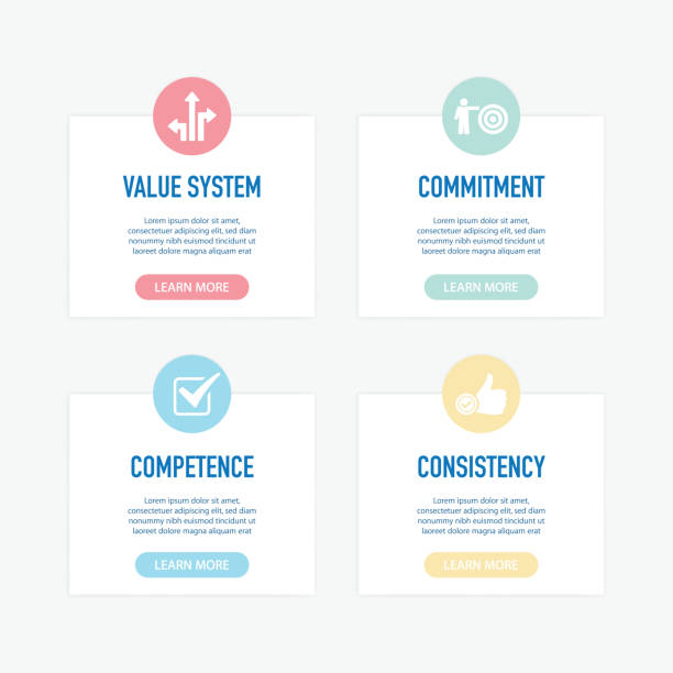TRUST INFOGRAPHIC ICONS vector art illustration