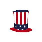 American hat icon. President day illustration. Vector
