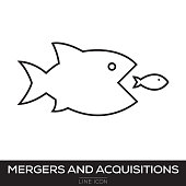 MERGERS AND ACQUISITIONS LINE ICON