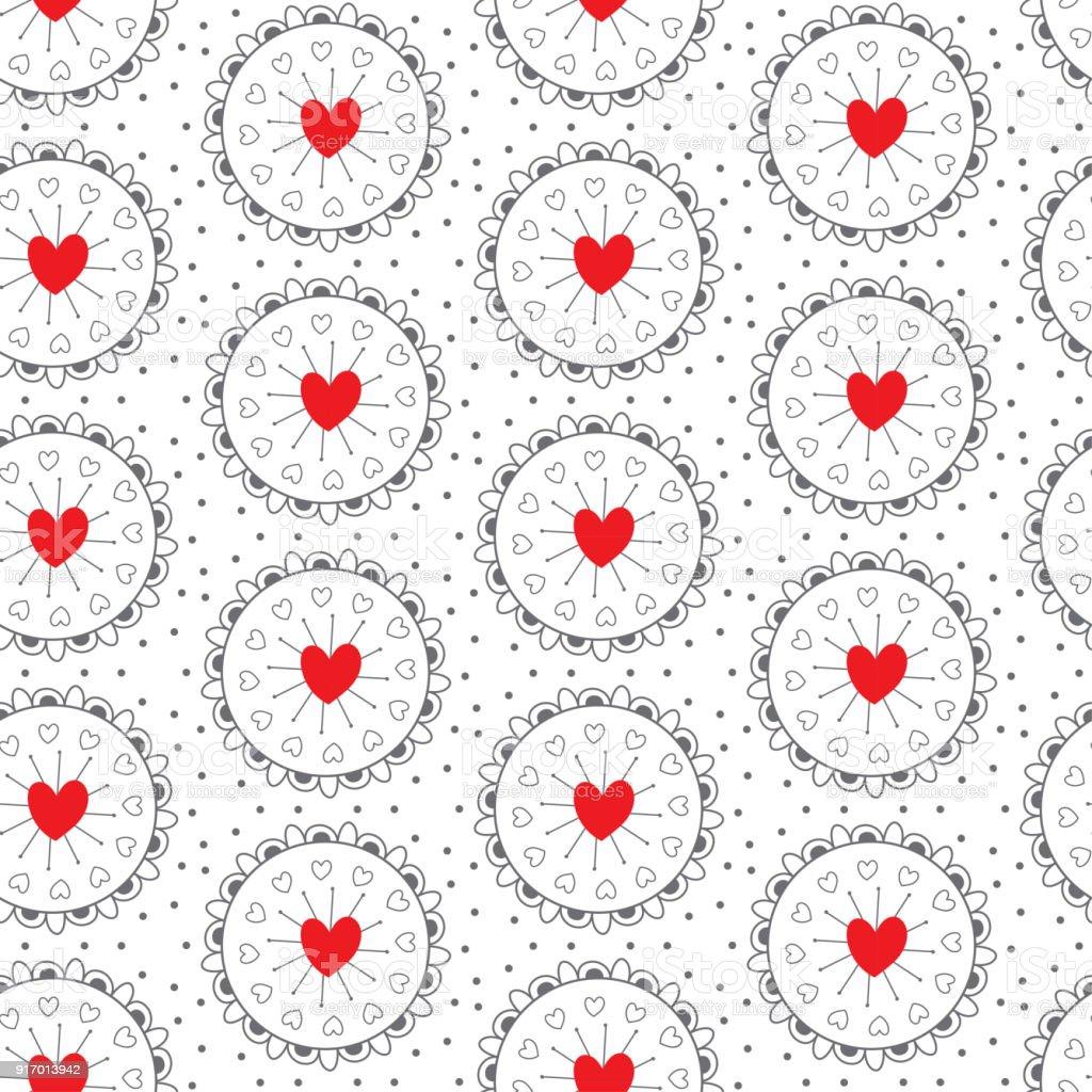 Love seamless vector pattern heart symbol in circle frame texture love seamless vector pattern heart symbol in circle frame texture valentines day backgrund royalty buycottarizona