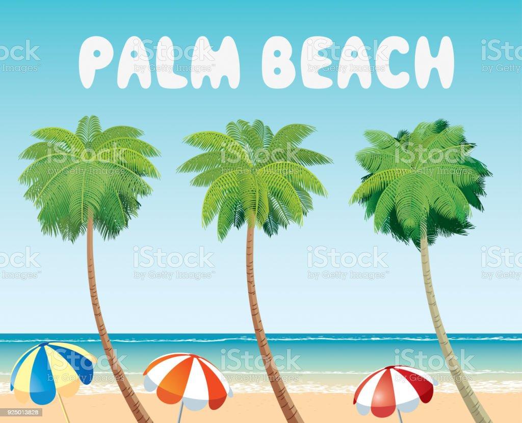 BEACH PALM vektör sanat illüstrasyonu