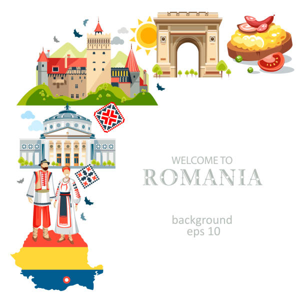 stockillustraties, clipart, cartoons en iconen met печать - roemenië