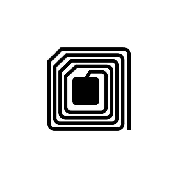RFID (Radio-frequency identification) Vector illustration radio frequency identification stock illustrations