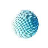 Halftone globe sign