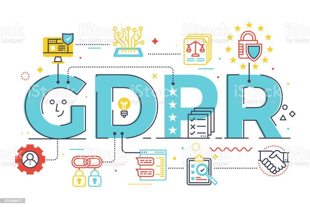 GDPR (General Data Protection Regulation) royalty-free gdpr stock illustration - download image now