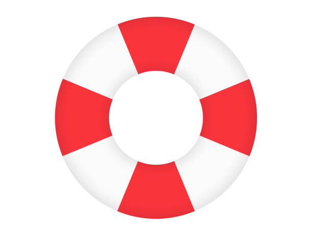 浮き輪 浮き輪 tube stock illustrations
