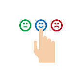 CUSTOMER SATISFACTION FLAT ICON