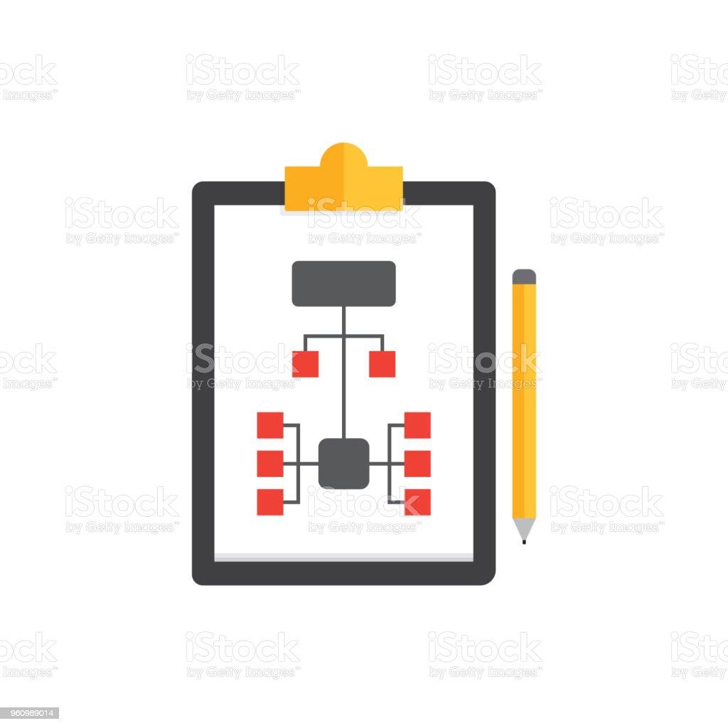 WORKFLOW-FLACH-SYMBOL - Lizenzfrei Abstrakt Vektorgrafik