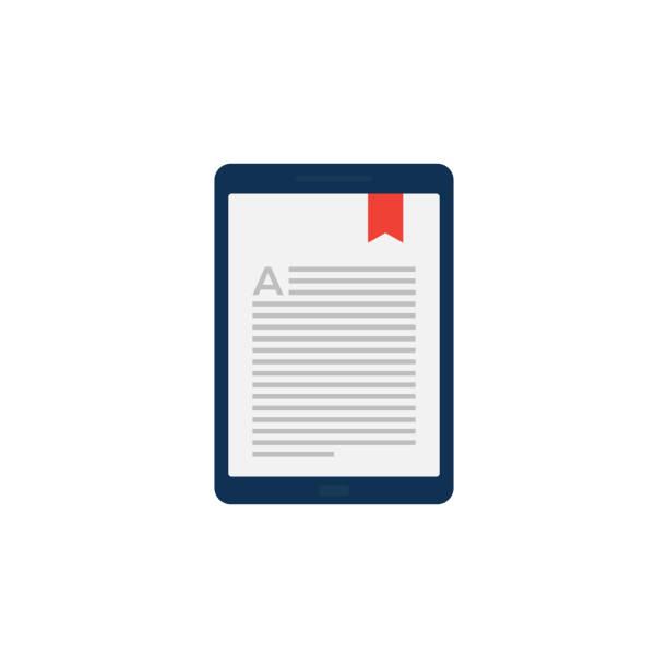 E-BOOK FLAT ICON E-BOOK FLAT ICON e reader stock illustrations