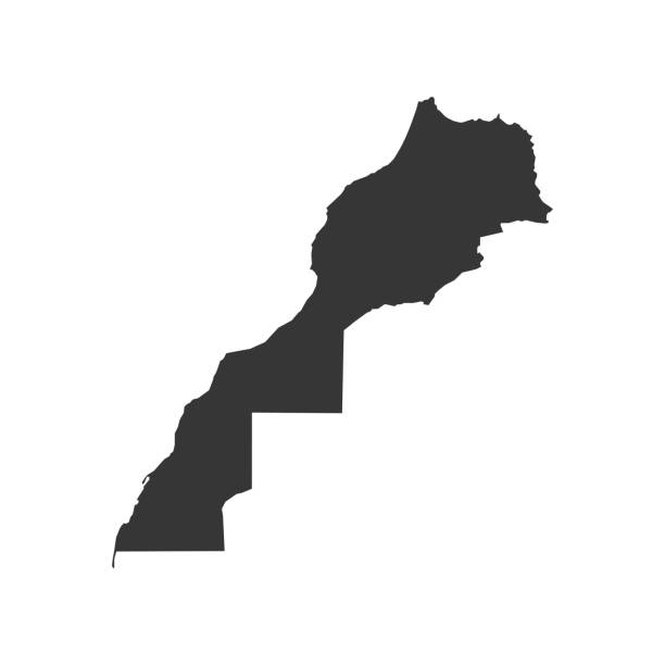 Шаблон 14.01.2016 Morocco map silhouette on the white background. Vector illustration morocco stock illustrations