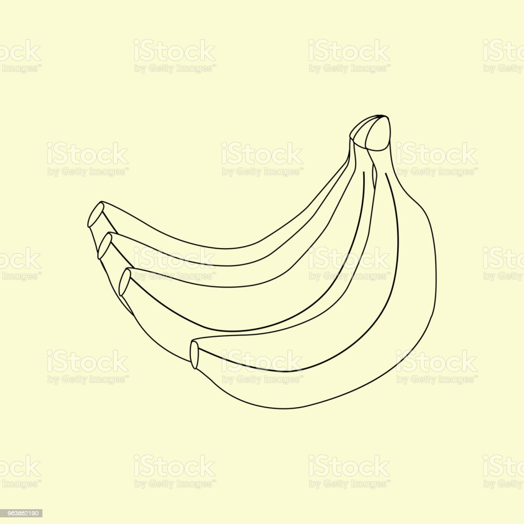 Шаблон - Royalty-free Banana stock vector