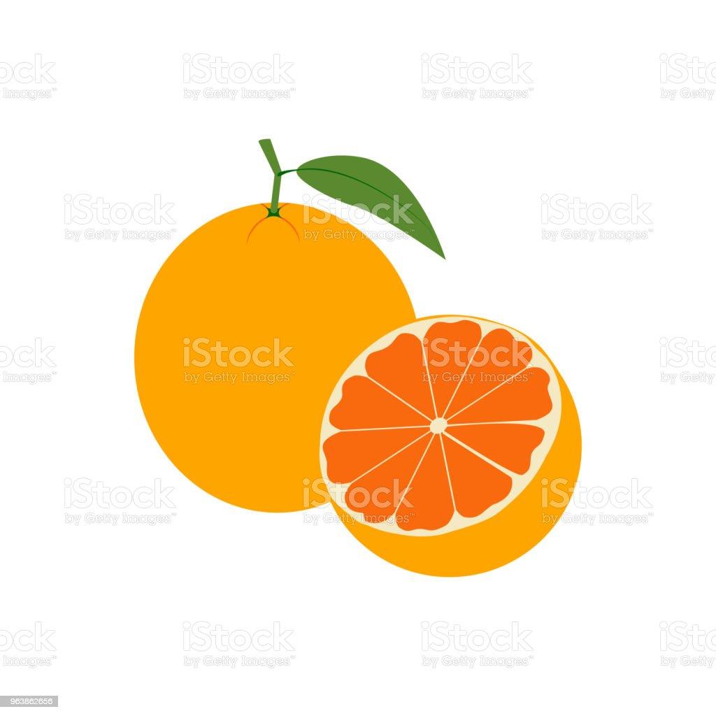 Шаблон - Royalty-free Citrus Fruit stock vector
