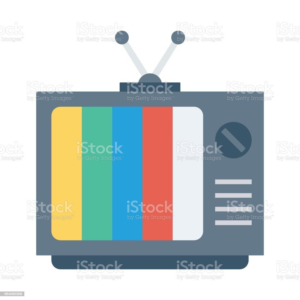 TV - Royalty-free Analog stock vector