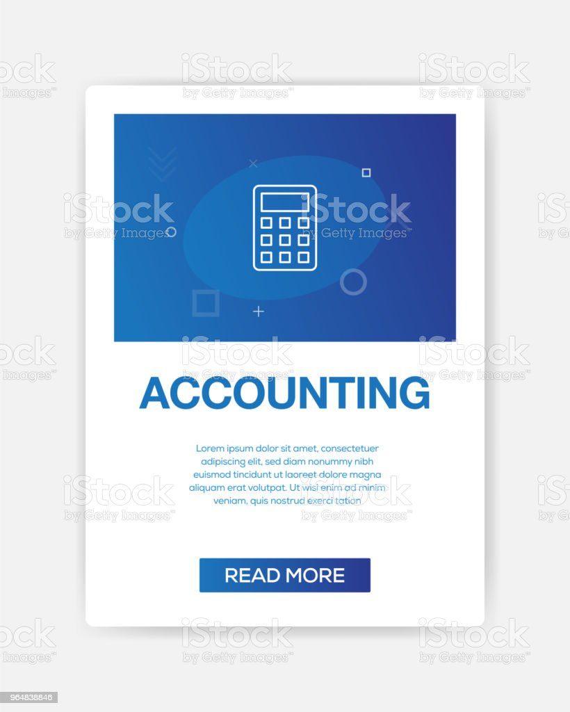 ACCOUNTING ICON INFOGRAPHIC royalty-free accounting icon infographic stock vector art & more images of bank