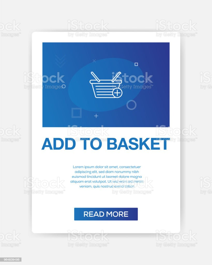 ADD TO BASKET ICON INFOGRAPHIC royalty-free add to basket icon infographic stock vector art & more images of backgrounds