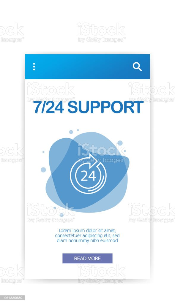 7 24 SUPPORT INFOGRAPHIC royalty-free 7 24 support infographic stock vector art & more images of assistance