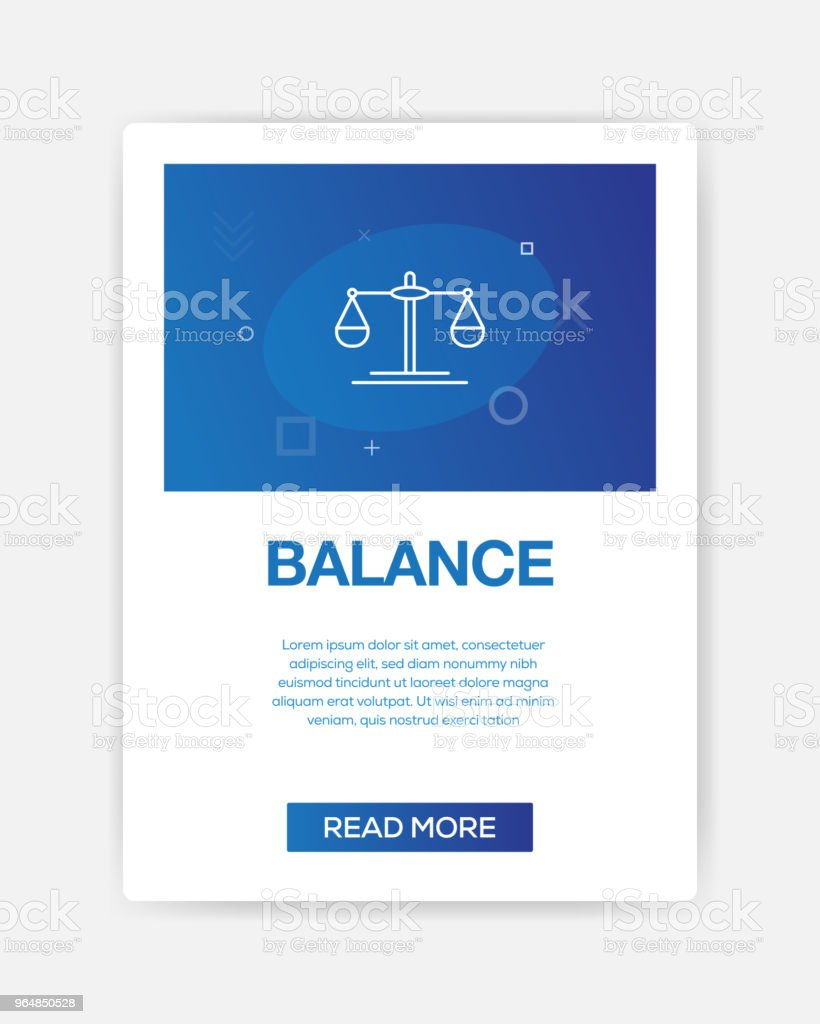 BALANCE ICON INFOGRAPHIC royalty-free balance icon infographic stock vector art & more images of abstract