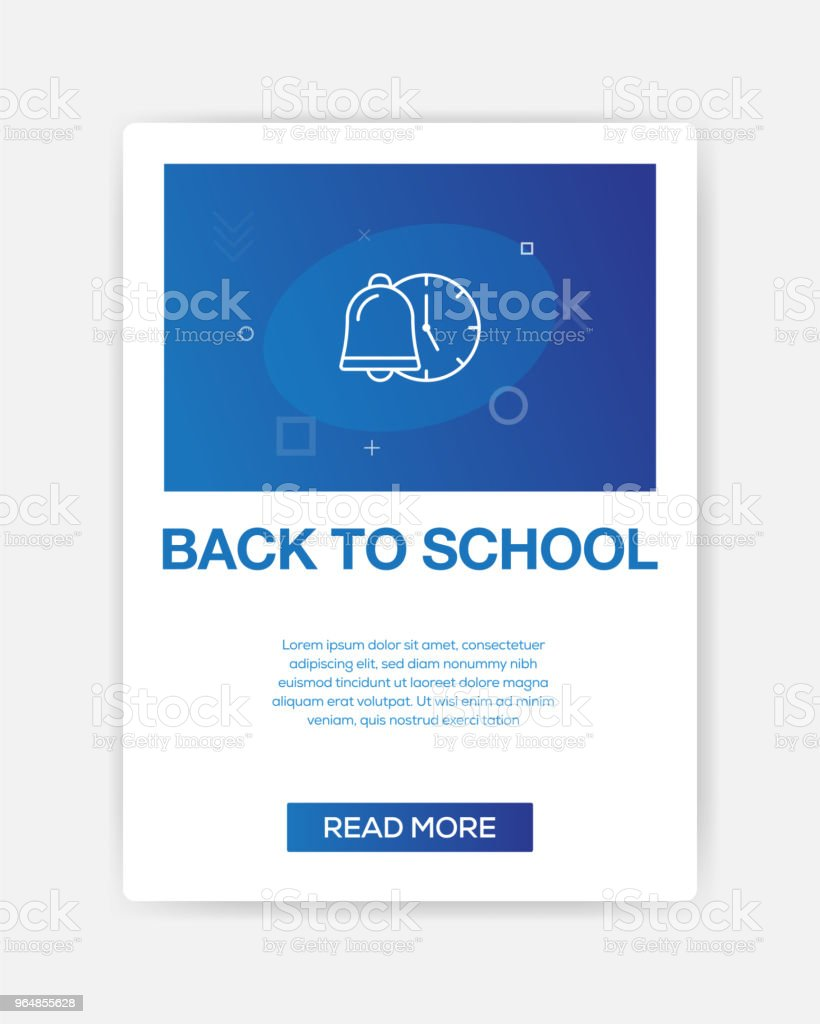BACK TO SCHOOL ICON INFOGRAPHIC royalty-free back to school icon infographic stock vector art & more images of art