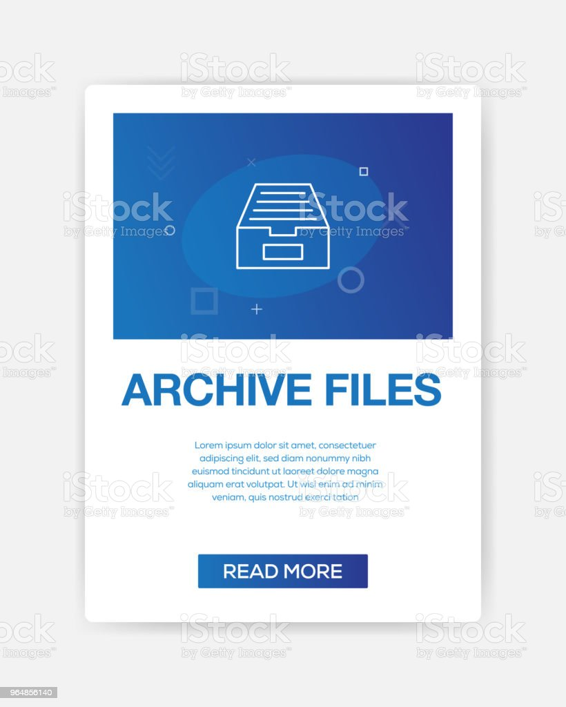 ARCHIVE FILES ICON INFOGRAPHIC royalty-free archive files icon infographic stock vector art & more images of abstract