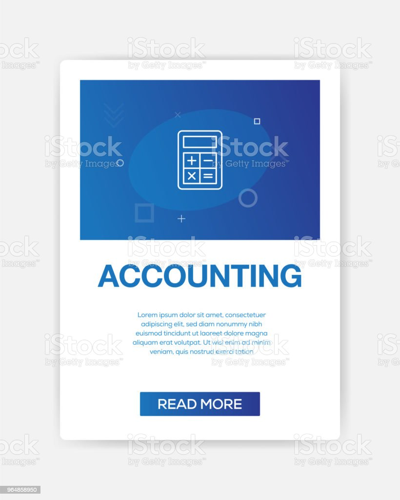 ACCOUNTING ICON INFOGRAPHIC royalty-free accounting icon infographic stock illustration - download image now