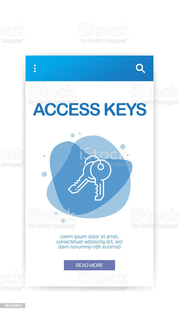 ACCESS KEYS INFOGRAPHIC royalty-free access keys infographic stock vector art & more images of abstract