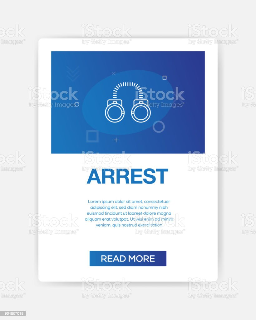 ARREST ICON INFOGRAPHIC royalty-free arrest icon infographic stock vector art & more images of arrest