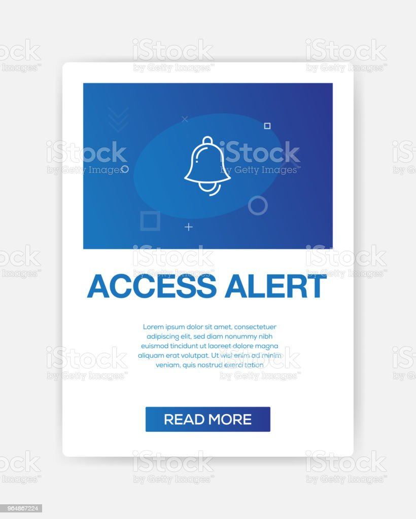 ACCESS ALERT ICON INFOGRAPHIC royalty-free access alert icon infographic stock vector art & more images of abstract