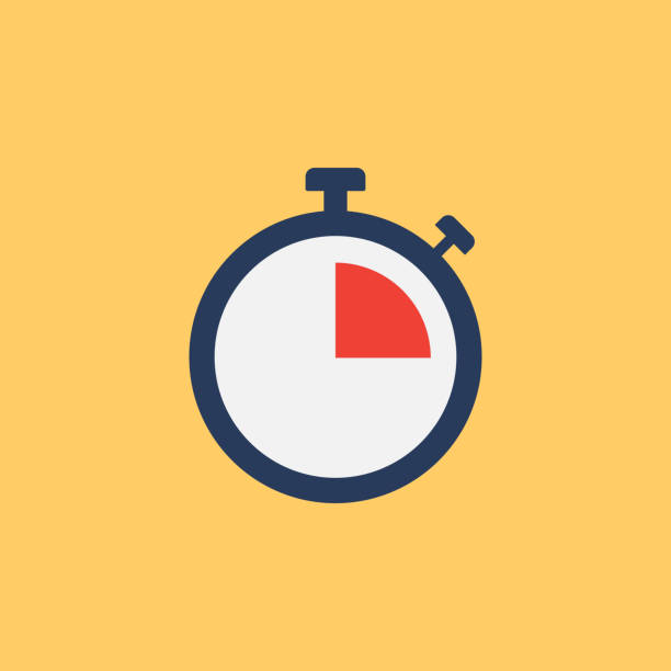 illustrazioni stock, clip art, cartoni animati e icone di tendenza di deadline flat icon - time