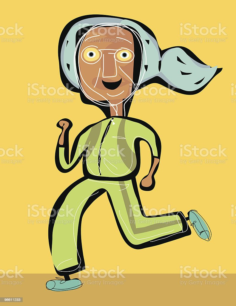 OLD JOGGER - Royalty-free 60-69 Years stock vector