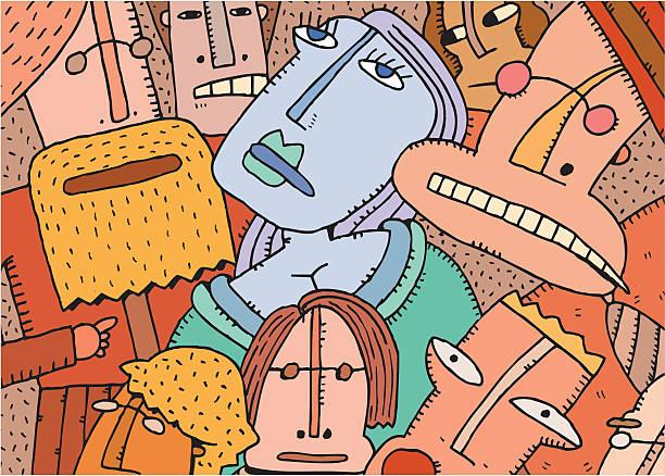 ilustrações, clipart, desenhos animados e ícones de dama de gelo - reunião de família