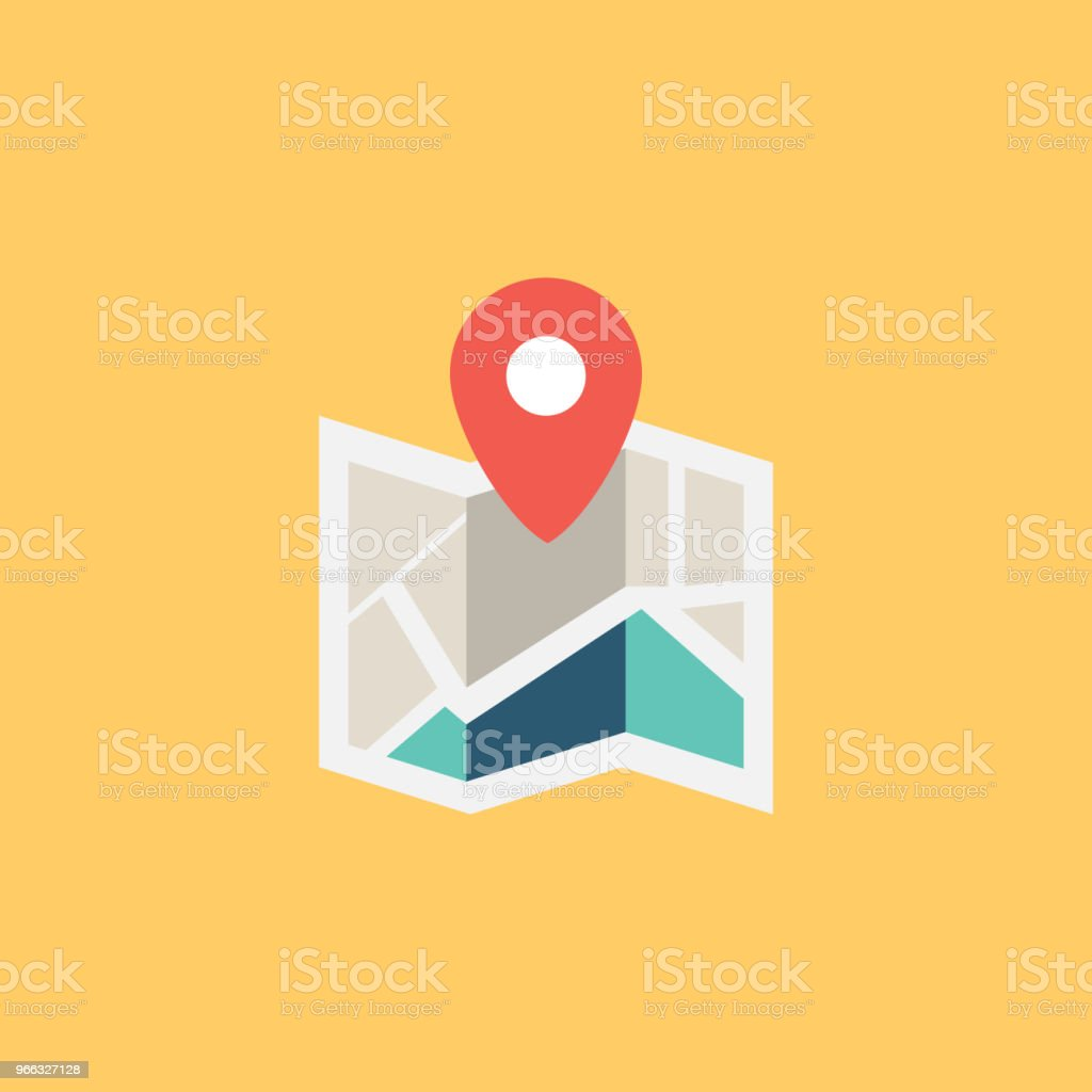 CITY MAP FLAT ICON CITY MAP FLAT ICON Advice stock vector
