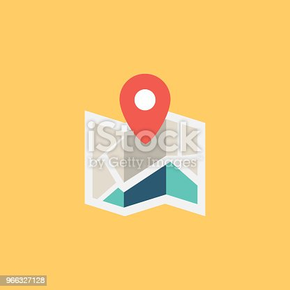 CITY MAP FLAT ICON