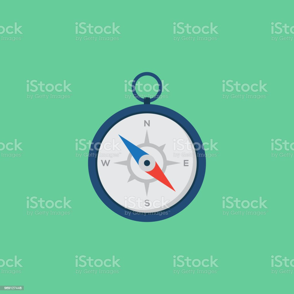 GUIDANCE FLAT ICON vector art illustration