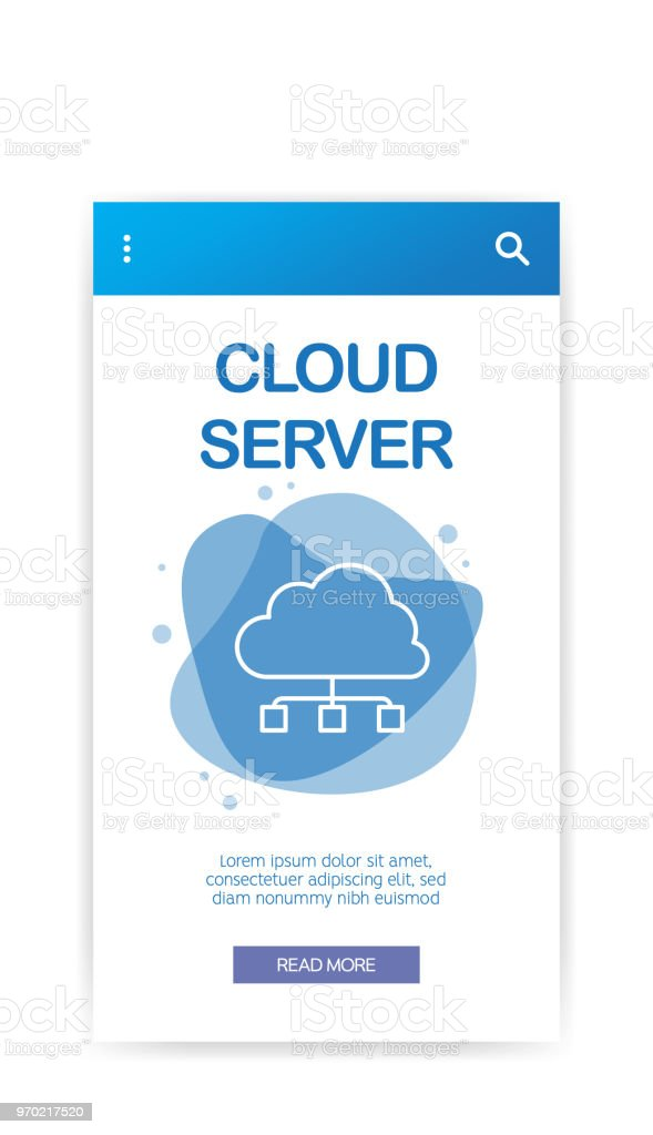 Cloud Server Infographic Stock Illustration - Download Image Now