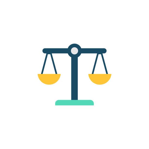 illustrazioni stock, clip art, cartoni animati e icone di tendenza di integrity flat icon - balance graphics