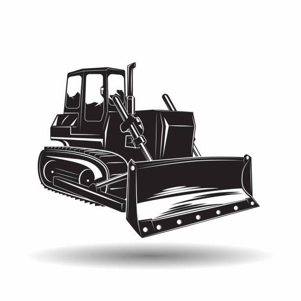 Best Bulldozer Illustrations, Royalty-Free Vector Graphics ...