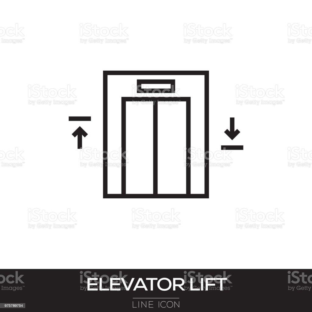 ELEVATOR LIFT LINE ICON