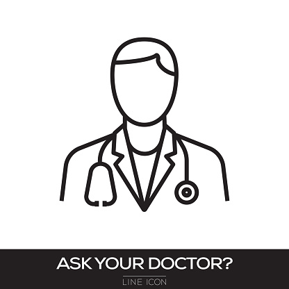 ASK YOUR DOCTOR CONCEPT LINE ICON