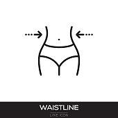 istock WAISTLINE LINE ICON 975790580