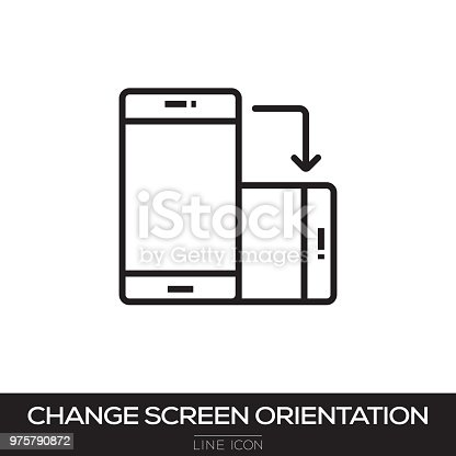 CHANGE SCREEN ROTATION LINE ICON