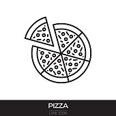 PIZZA LINE ICON