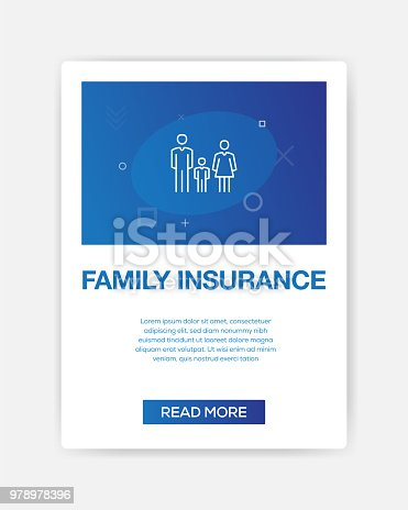 958039576 istock photo FAMILY INSURANCE ICON INFOGRAPHIC 978978396