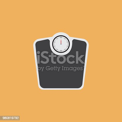 istock WEIGHT SCALES FLAT ICON 980819792