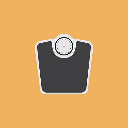 WEIGHT SCALES FLAT ICON
