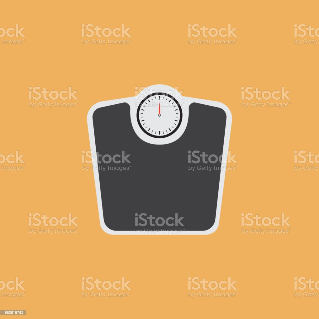 WEIGHT SCALES FLAT ICON vector art illustration