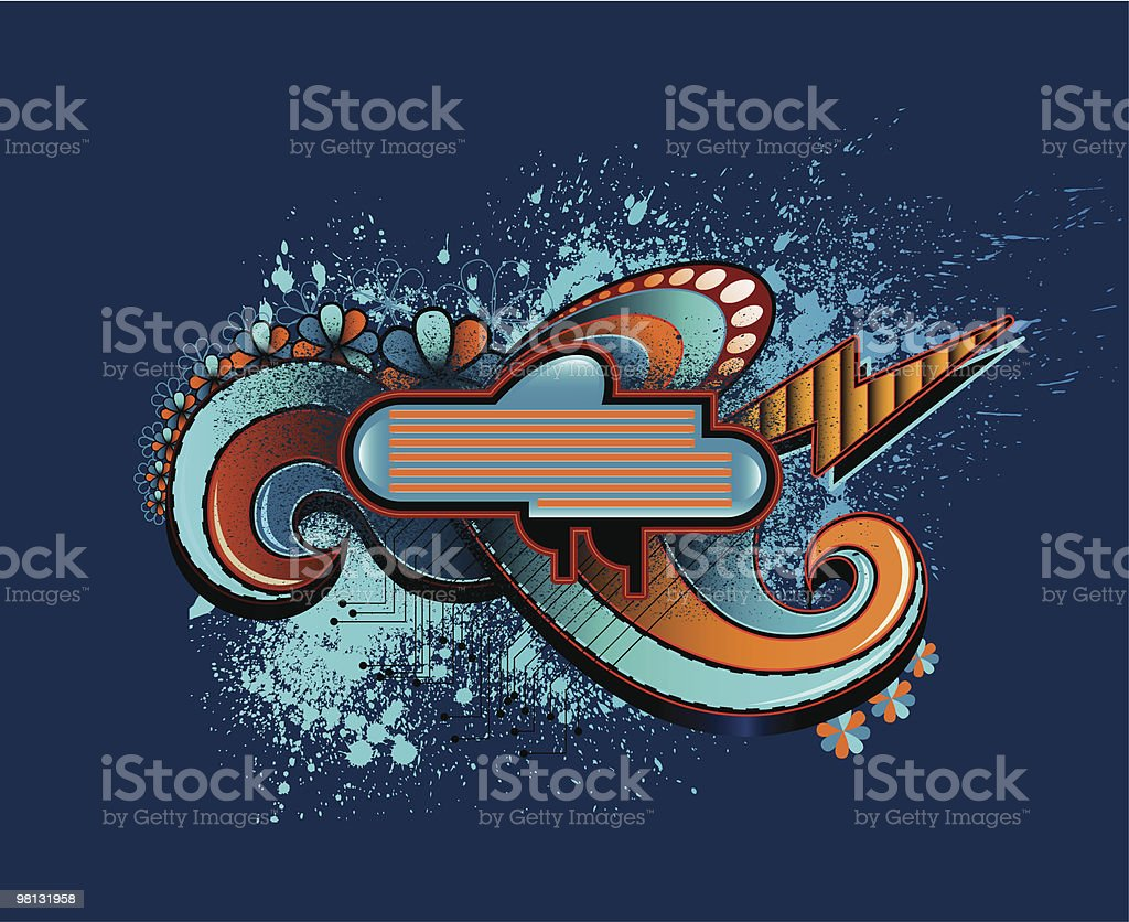 RETRO SWIRL BANNER royalty-free retro swirl banner stock vector art & more images of backgrounds