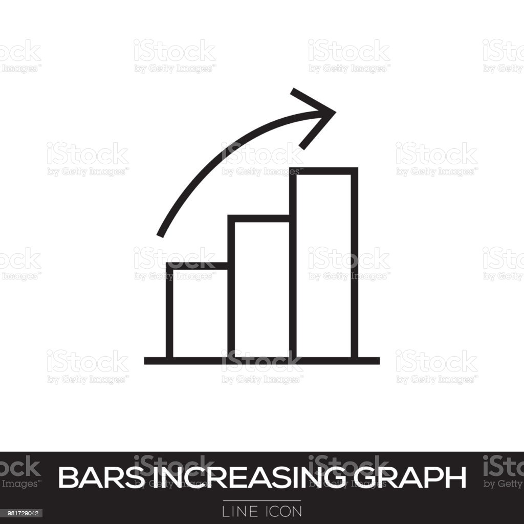 BAR STEIGENDE GRAPH LINIENSYMBOL – Vektorgrafik