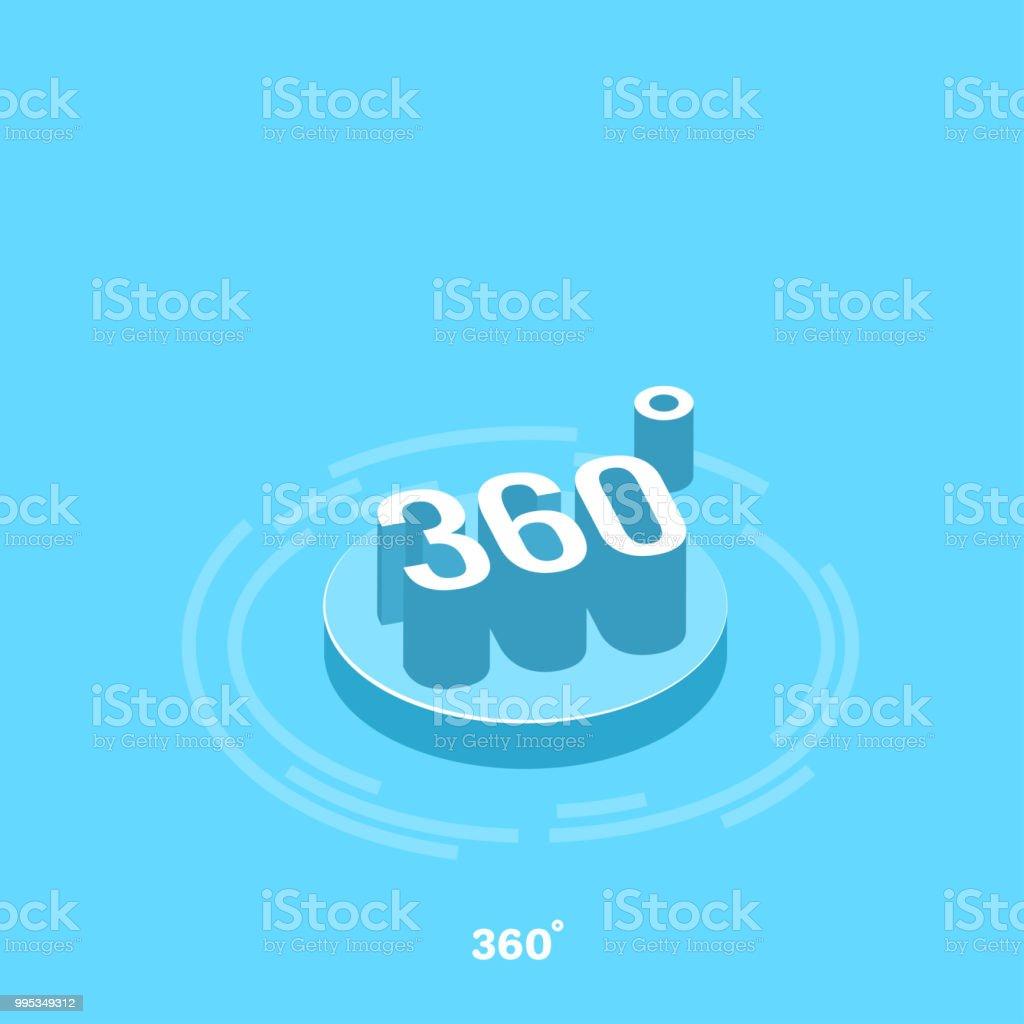 360 - ilustración de arte vectorial