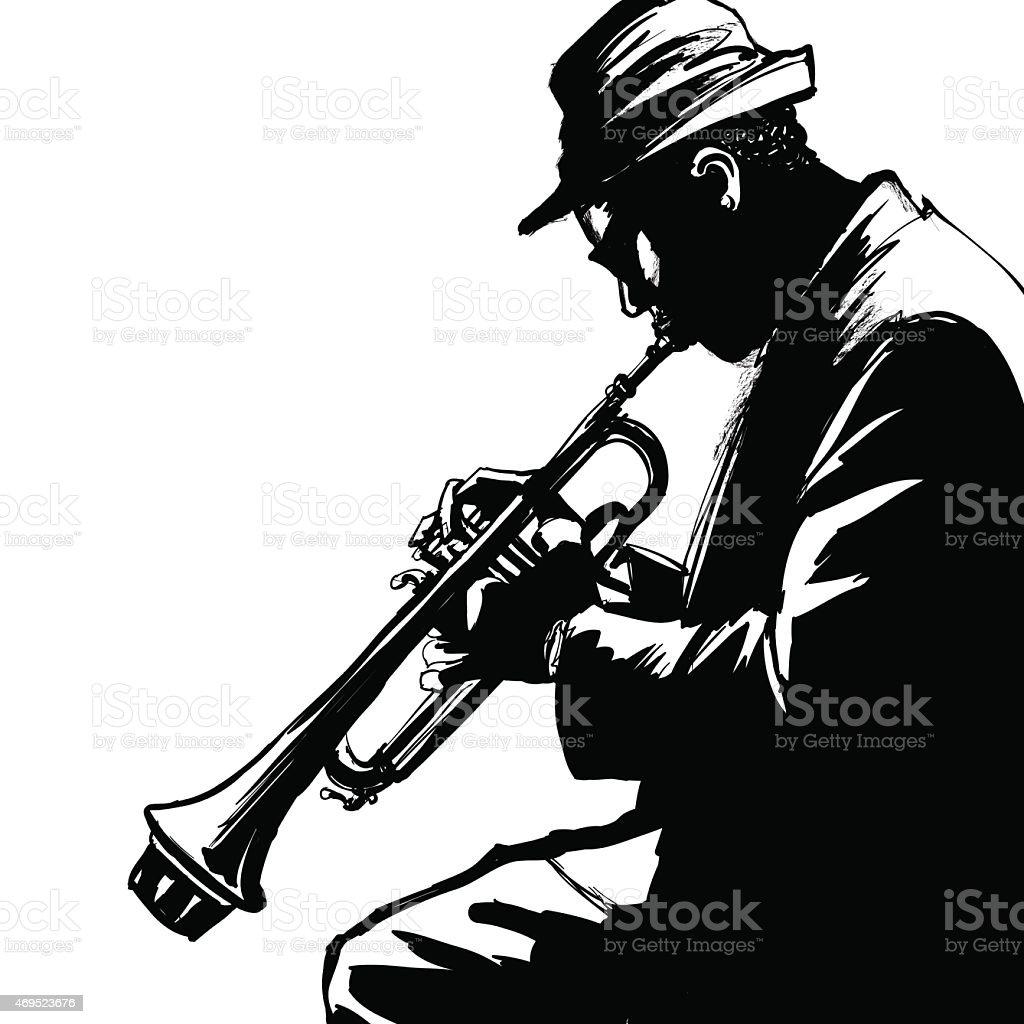 0016-trumpet vector art illustration