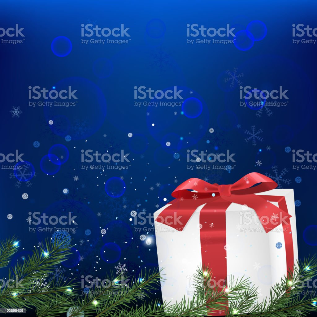 02_Snow branches presents royalty-free stock vector art